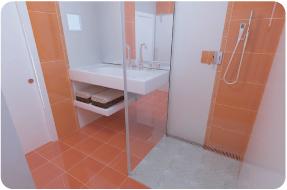 Photo 3D réaliste de salle de douche
