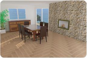 Photo 3D réaliste de salon